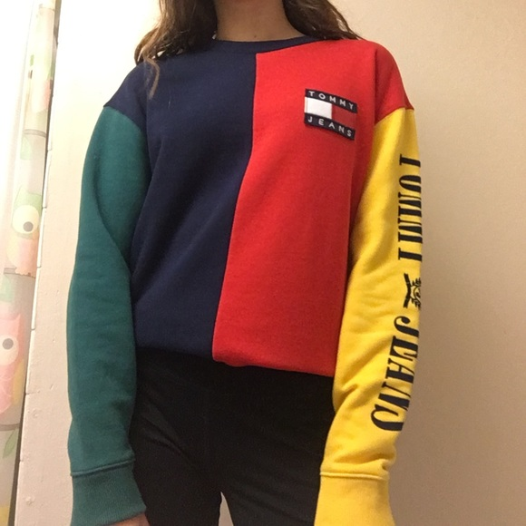 9cdff34371a5 Tommy Hilfiger Tops | Colorblock Sweater | Poshmark
